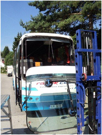 výměna skel autobus
